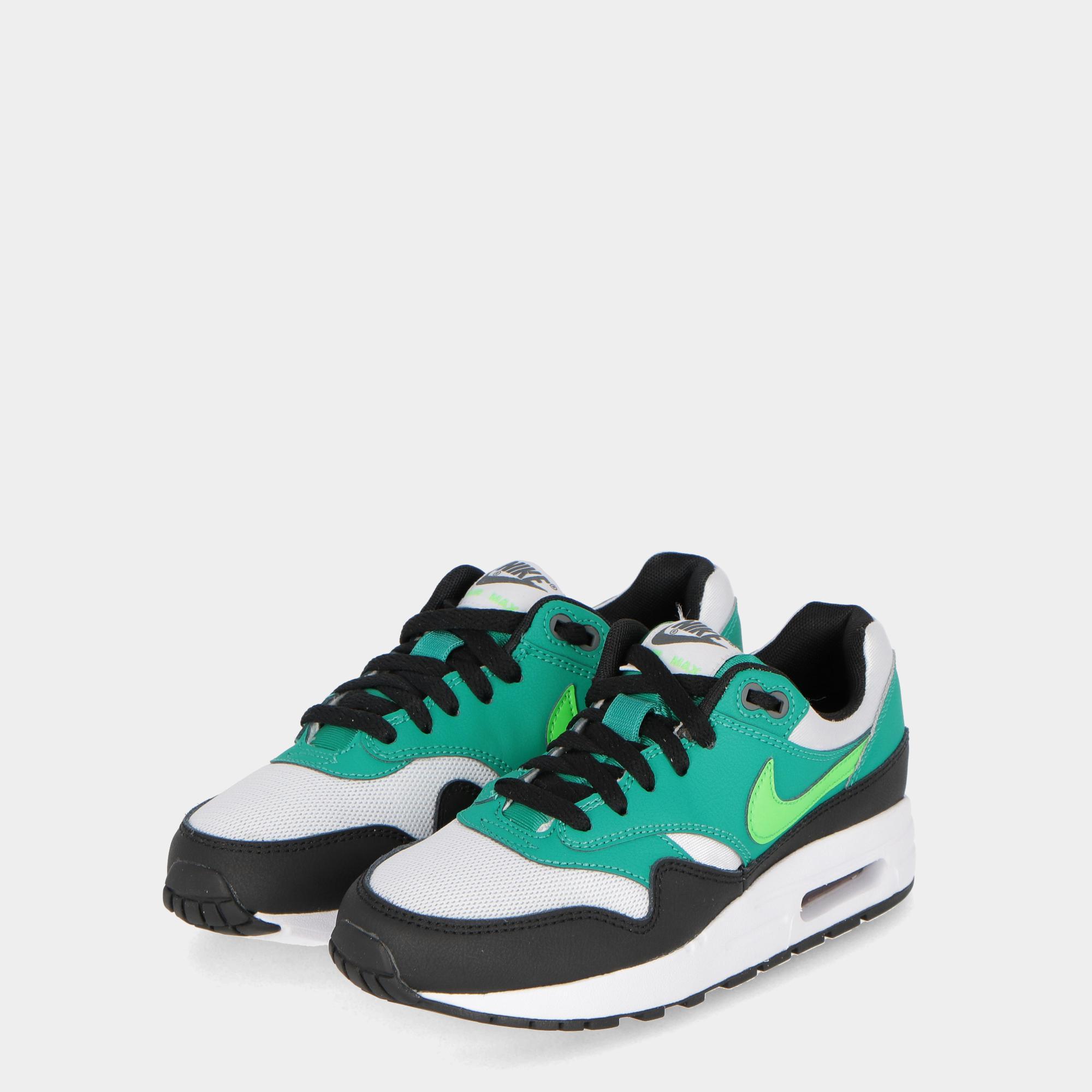 buy popular 175c2 f77be Nike Air Max 1 (gs) - Kids Green white