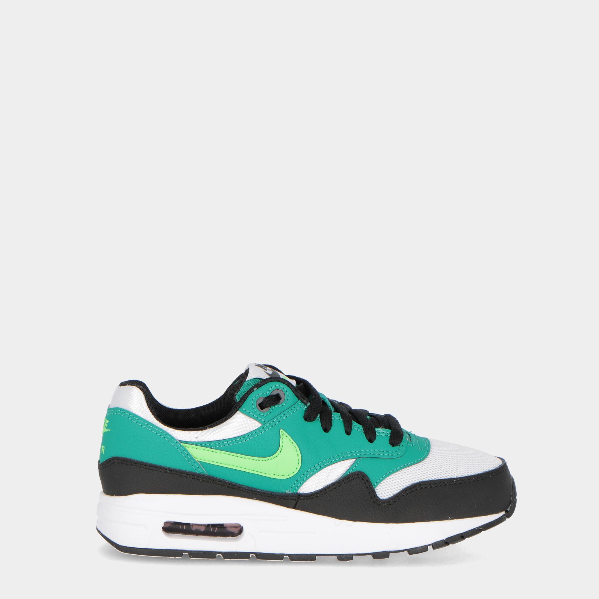 buy popular 490c1 e1b69 Nike Air Max 1 (gs) - Kids Green white