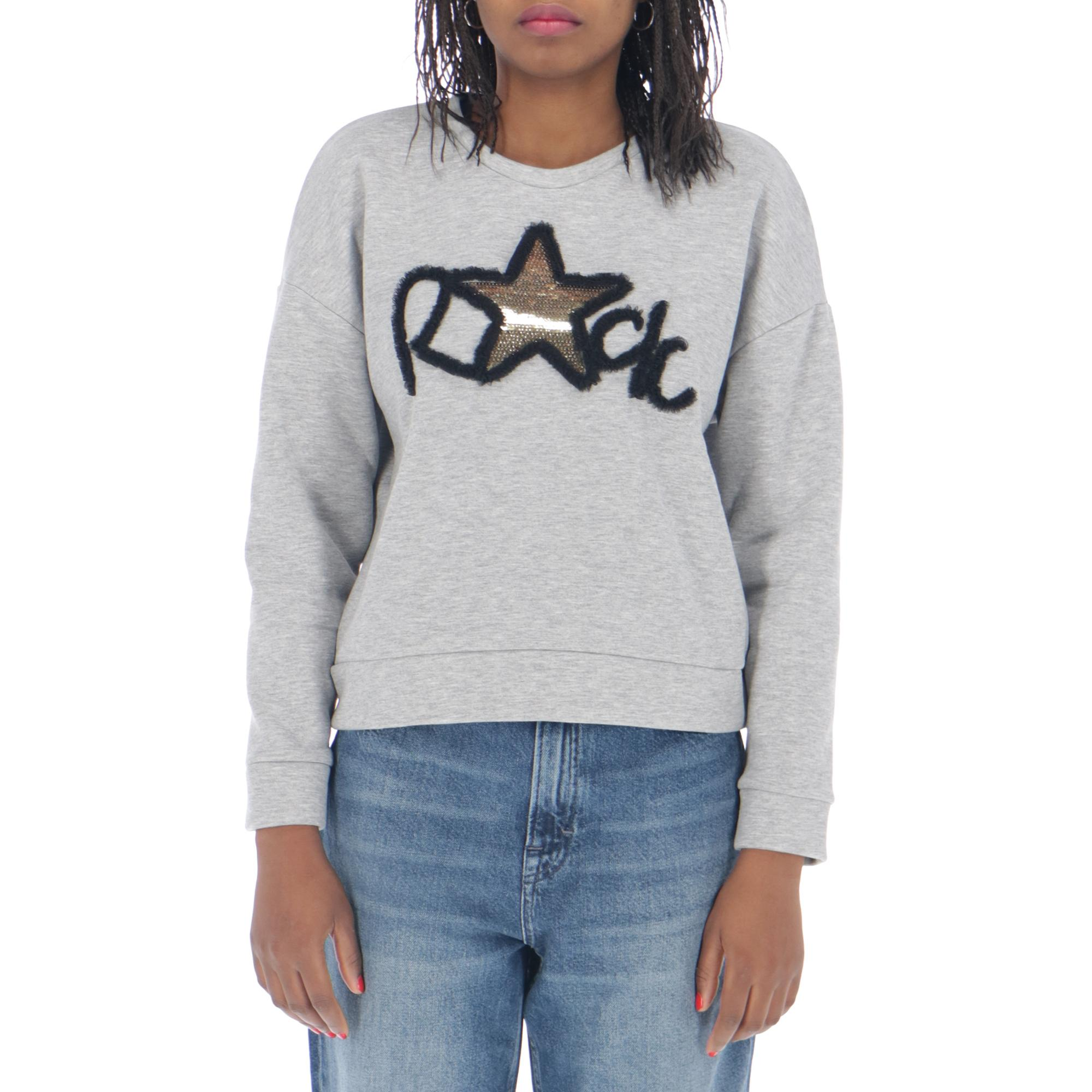Only Love Rock Sweatshirt Light grey melange
