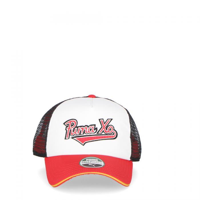 puma cappelli white red