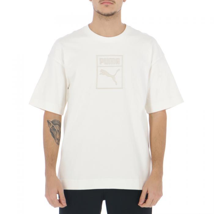 puma t-shirt e canotte whisper white