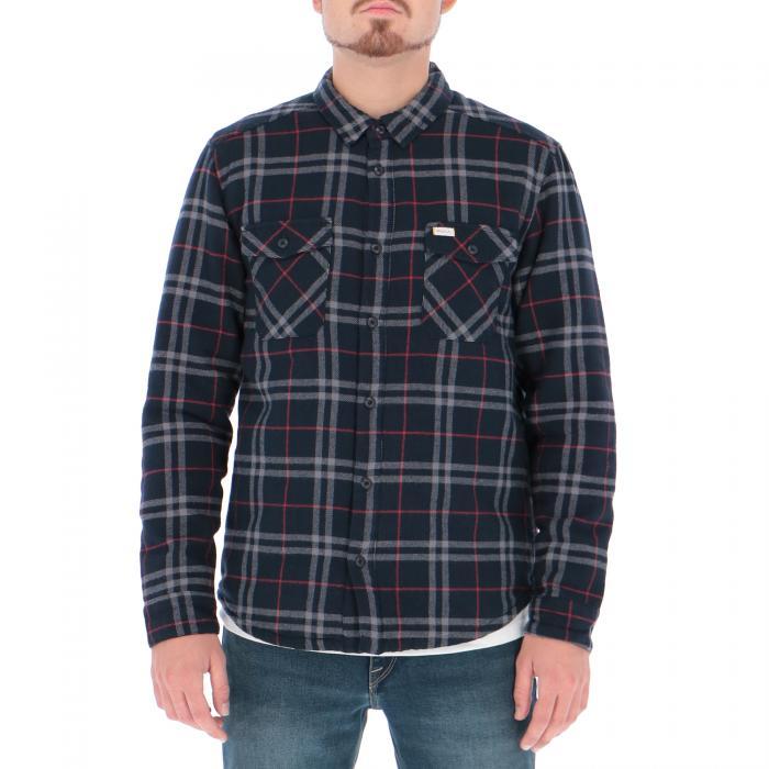 rvca camicie maniche lunghe navy