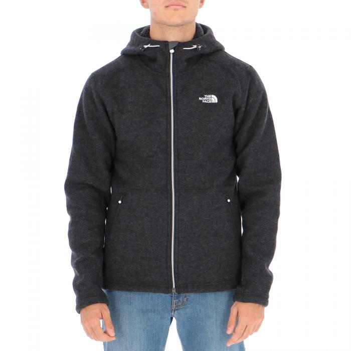 the north face felpe black black