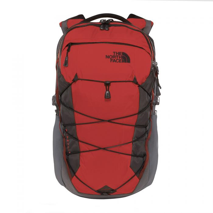 the north face borse e zaini red grey