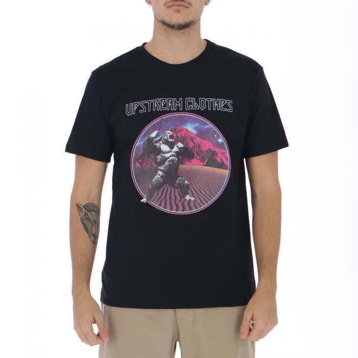 upstream t-shirt e canotte black