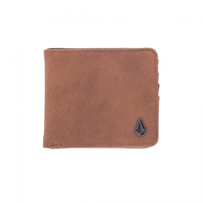 volcom portafogli e portachiavi brown