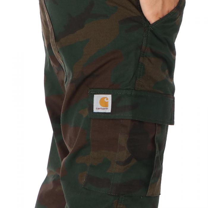carhartt pantaloni camo evergreen rinsed