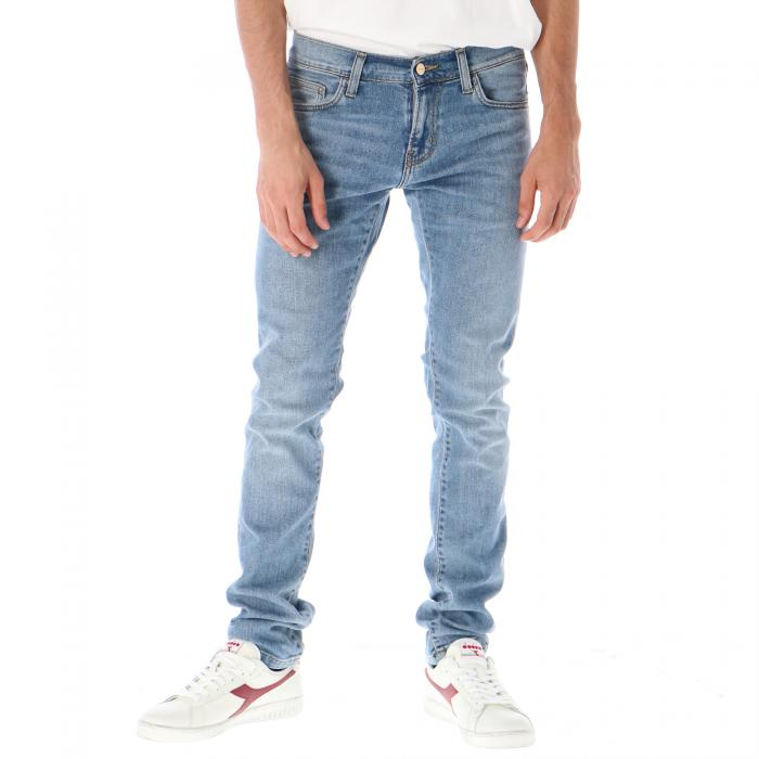carhartt pantaloni blue worn bleached