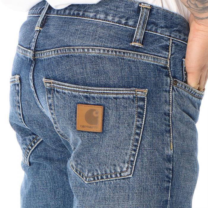 carhartt pantaloni blue mid worn wash
