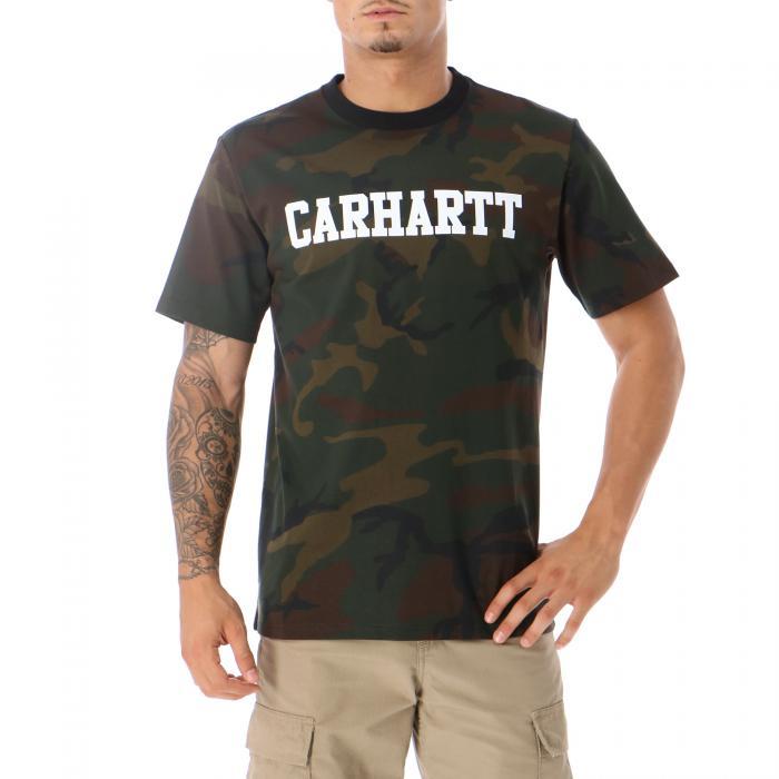 carhartt t-shirt e canotte camo evergreen white
