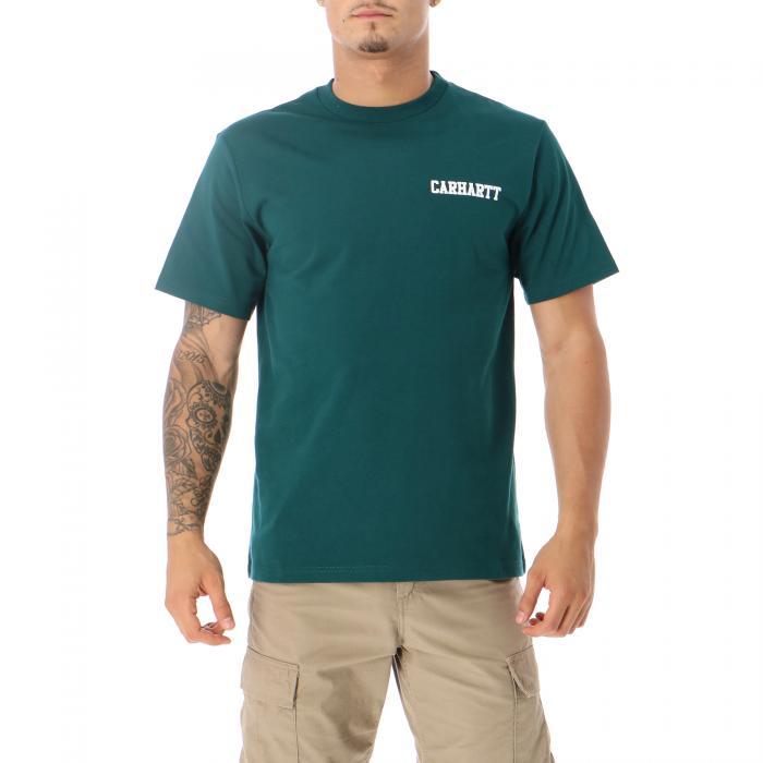 carhartt t-shirt e canotte dark fir white
