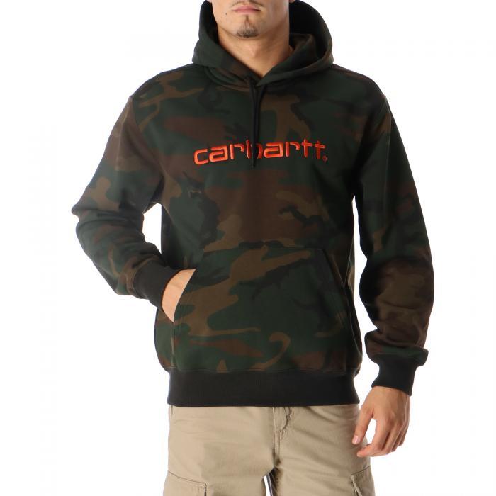 carhartt felpe camo evergreen brick orange