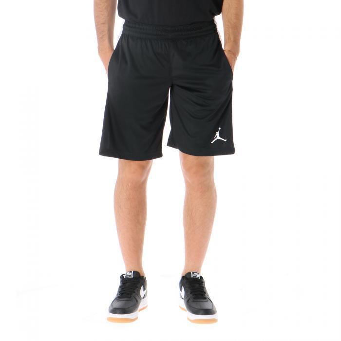 jordan shorts black white