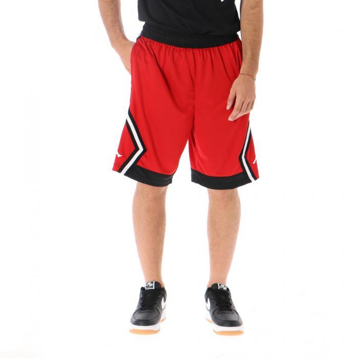 jordan shorts gym red white