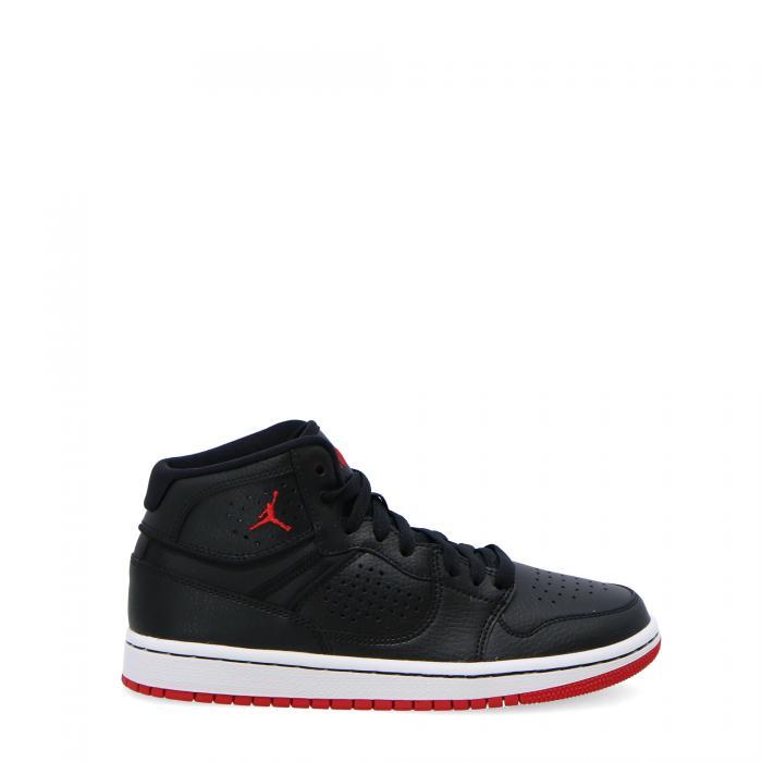 jordan scarpe basket black gym red white