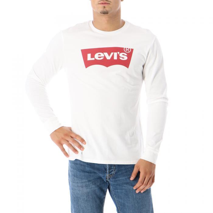 levi's maniche lunghe white