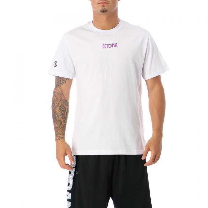 octopus t-shirt e canotte white