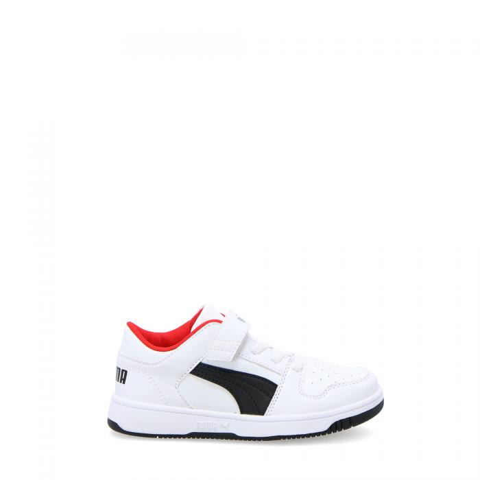 puma scarpe lifestyle white black high risk red