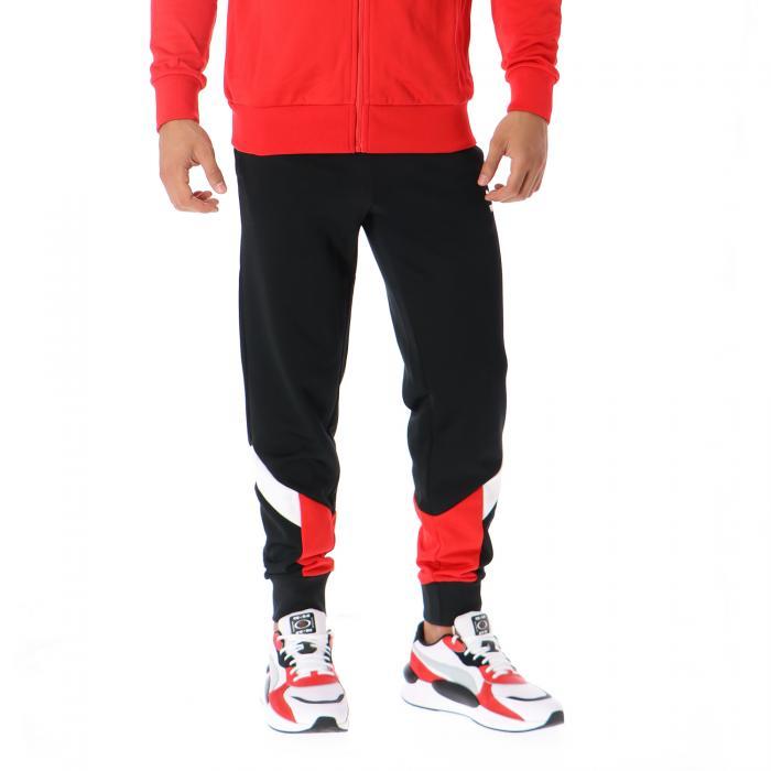puma pantaloni puma black red combo