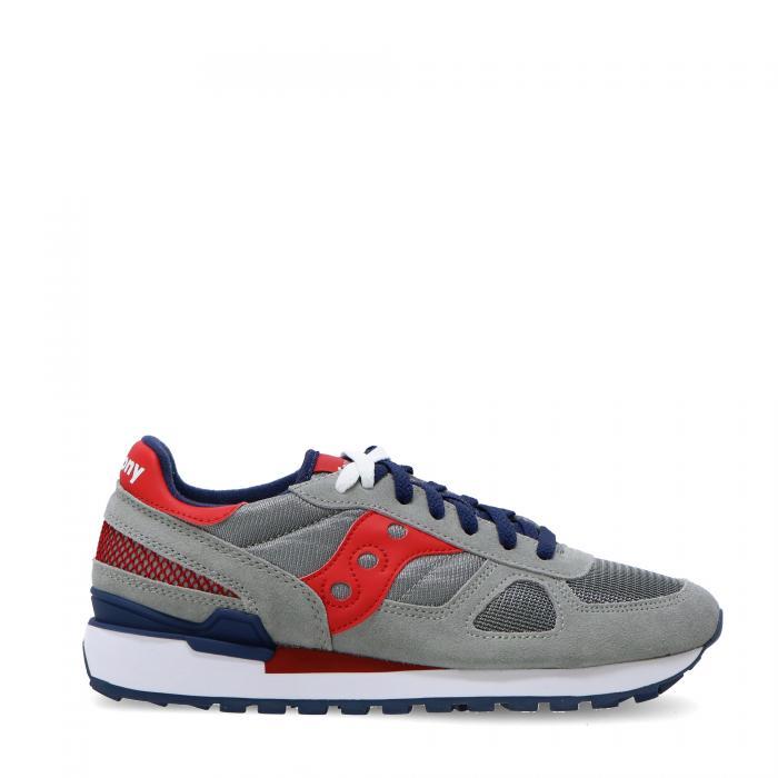 Saucony Shadow men S2108 661 grey red blu | Grimandi shoes shop
