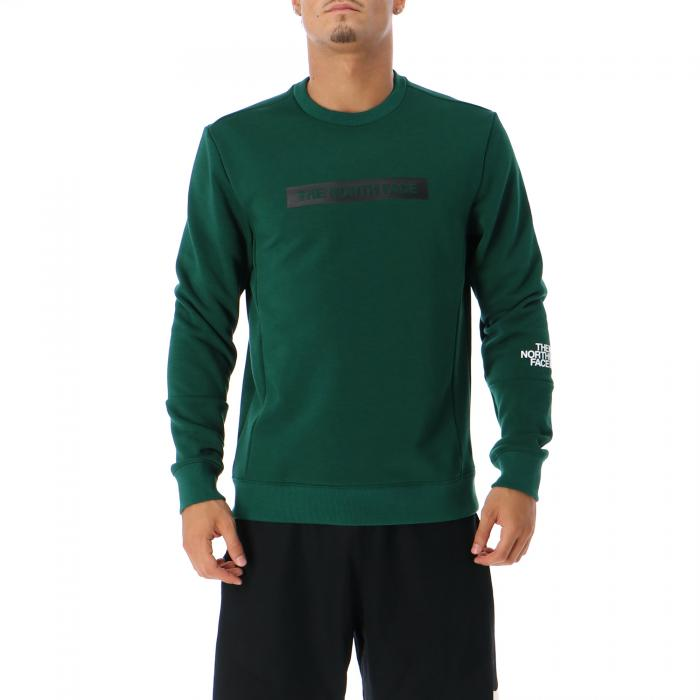 the north face felpe night green