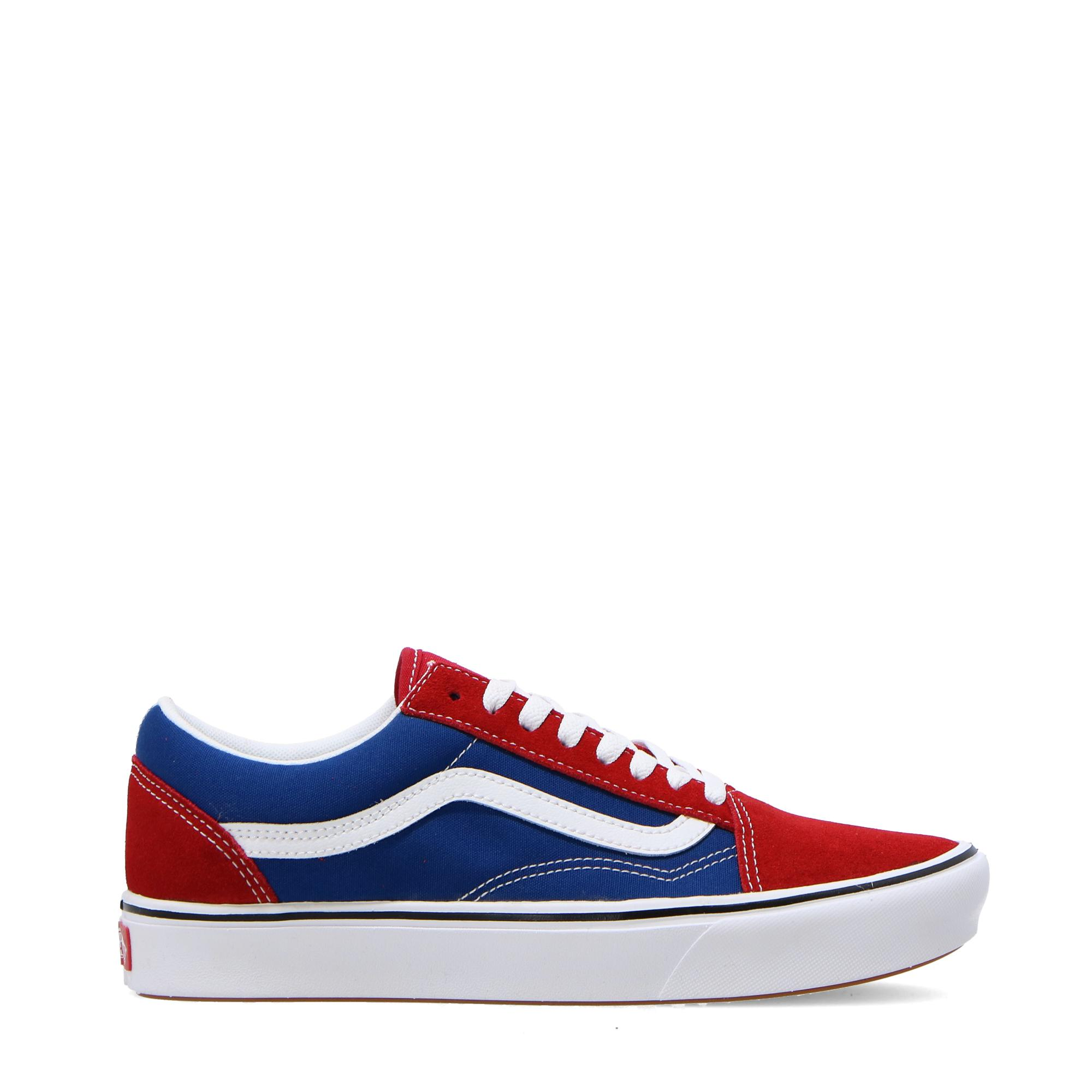 Vans Old Skool ComfyCush Red Chili & Blue Skate Shoes | Zumiez