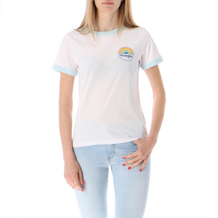 wrangler t-shirt e canotte white