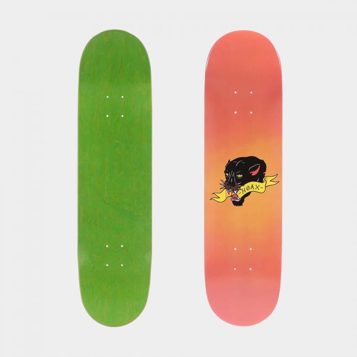hoax skateboard orange