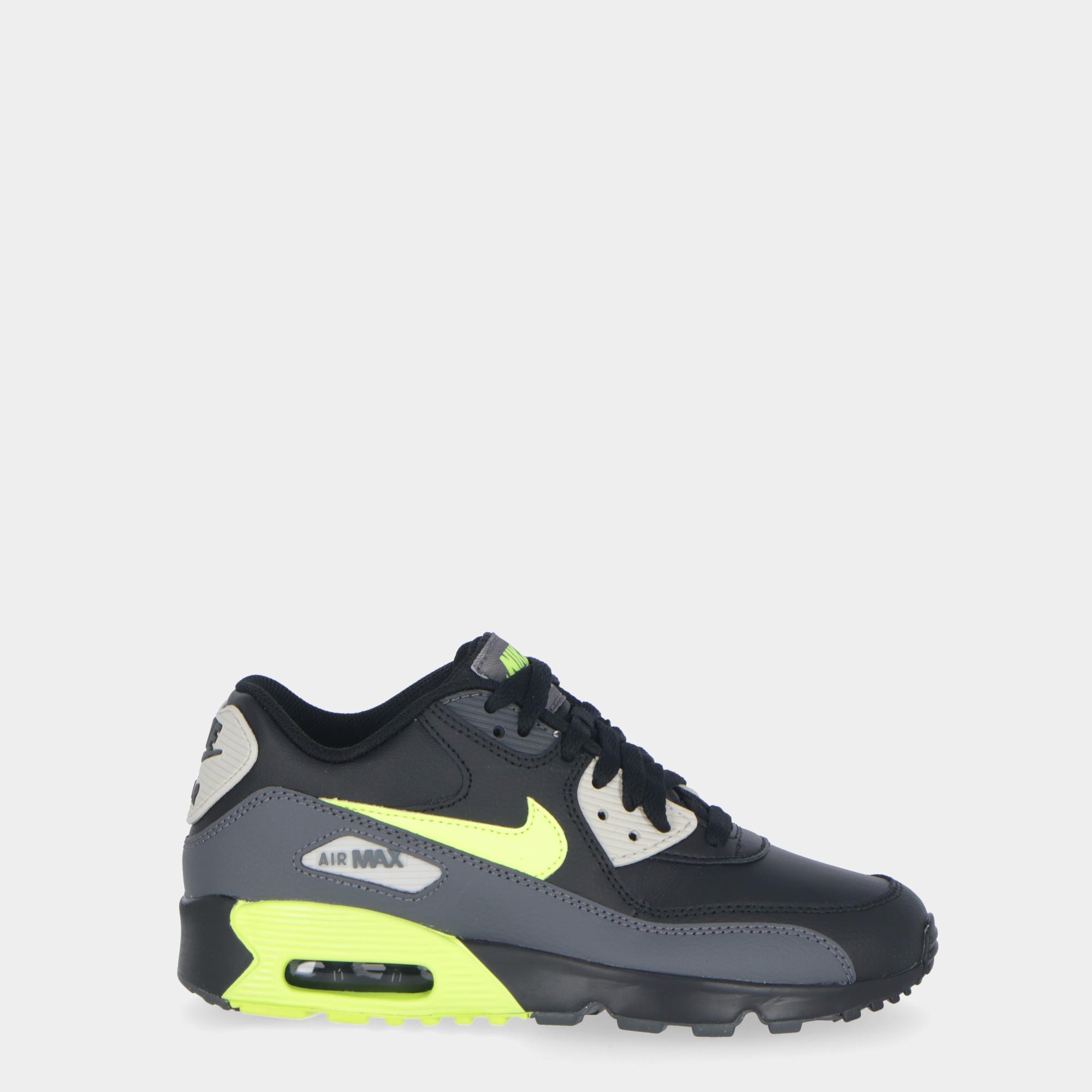 the best attitude efcec 04a6b Nike Air Max 90 Leather (gs) - Kids D grey volt