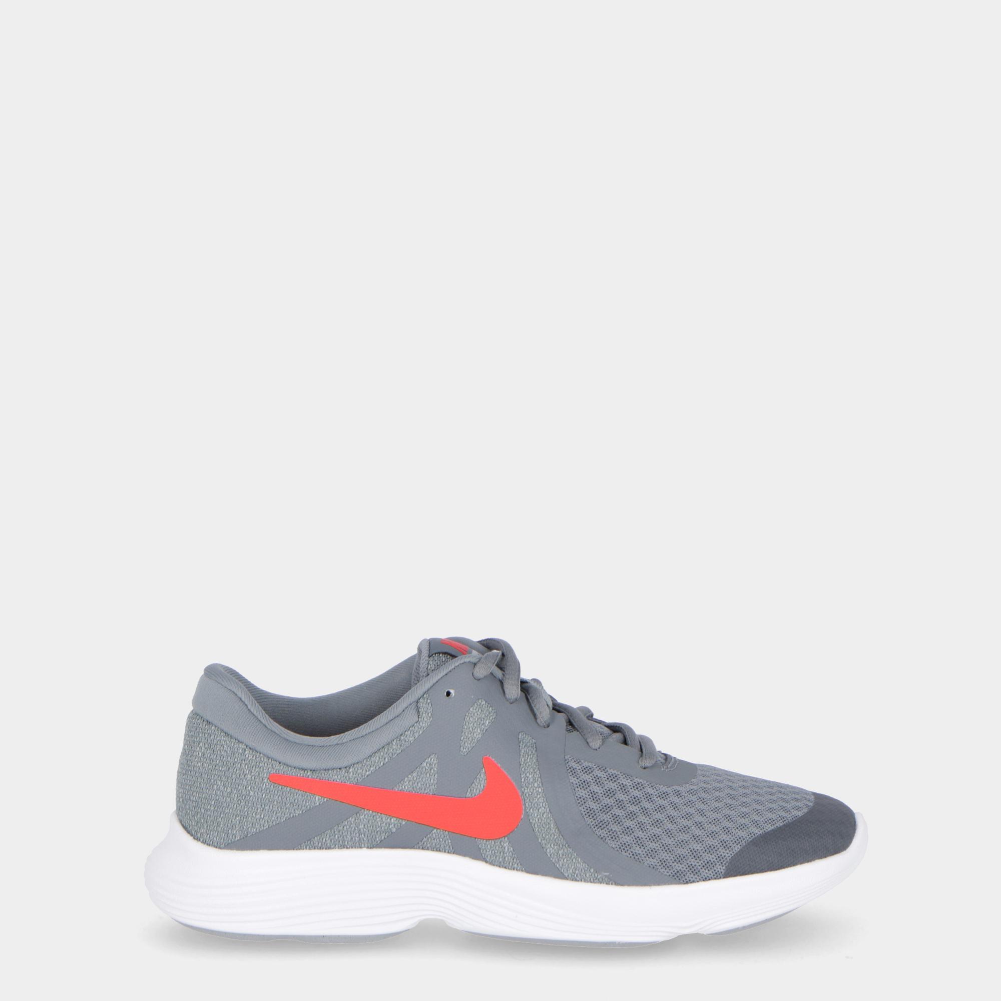 89ca6985b3b6 Nike Revolution 4 (gs) Grey red white
