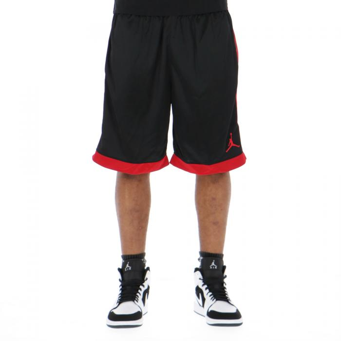 jordan shorts black red