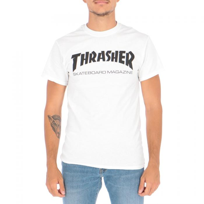 thrasher t-shirt e canotte white