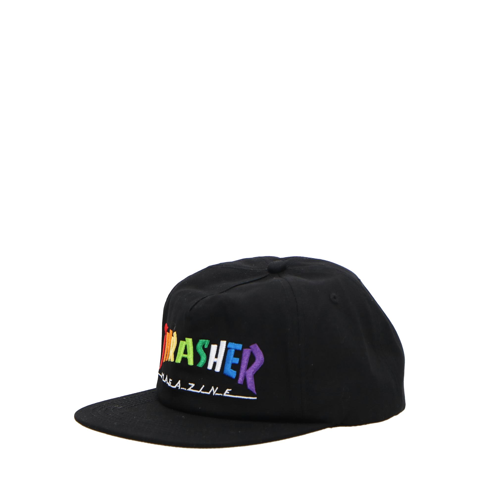 Thrasher Rainbow Mag Snapback Black