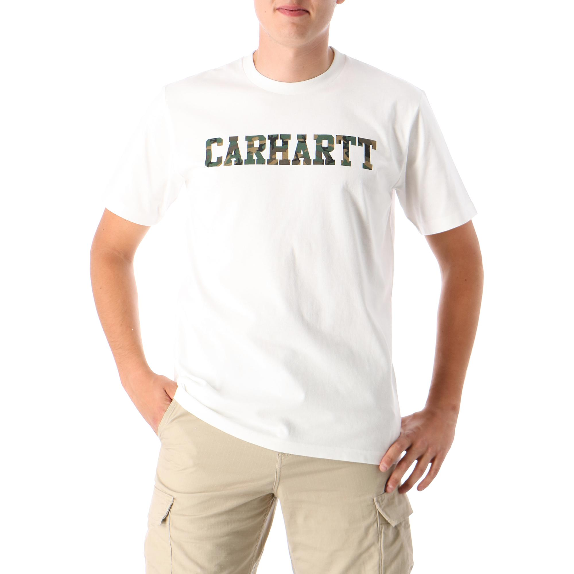 Carhartt College T-shirt White/camo laurel