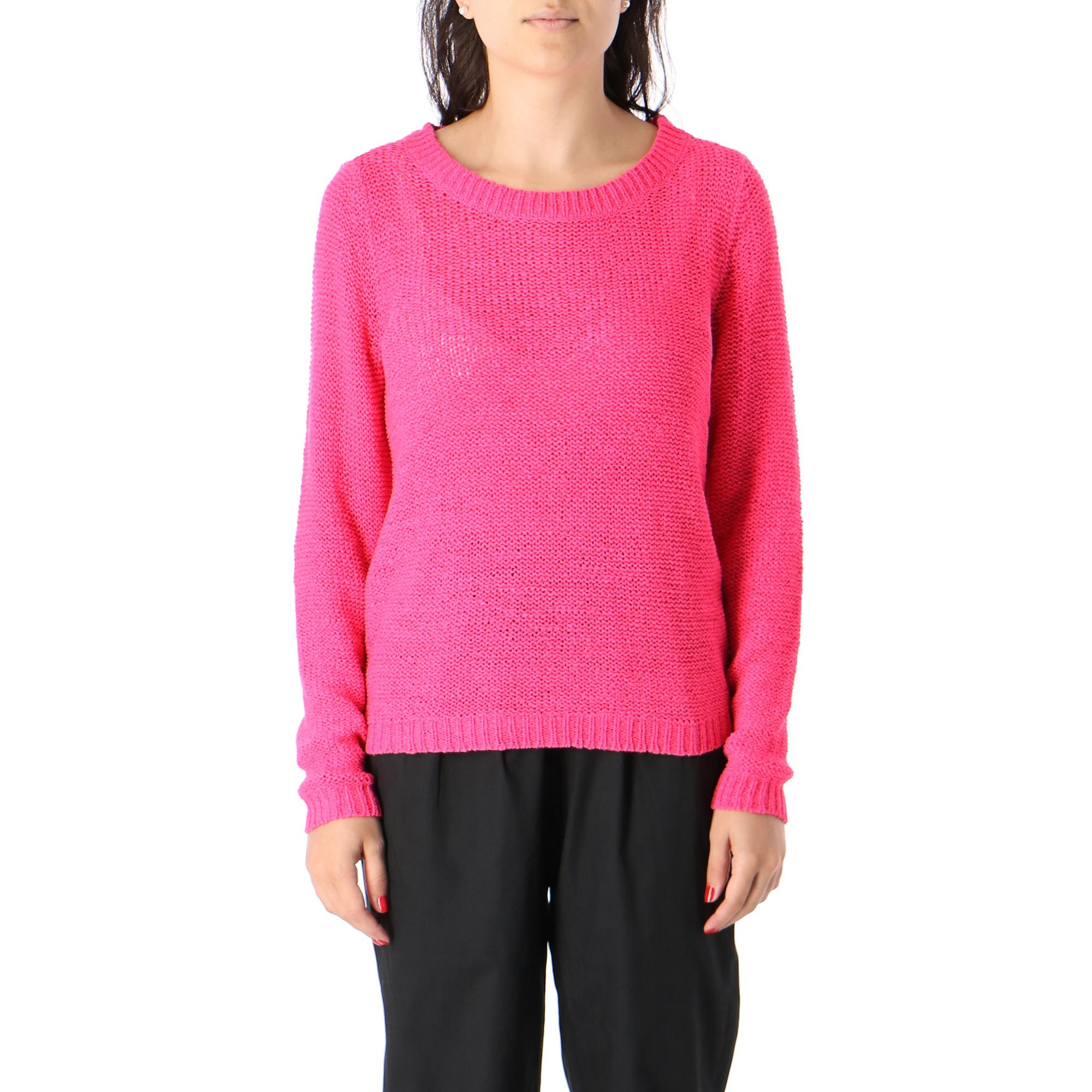Only Geena Ls Neon Pullover Knockout pink
