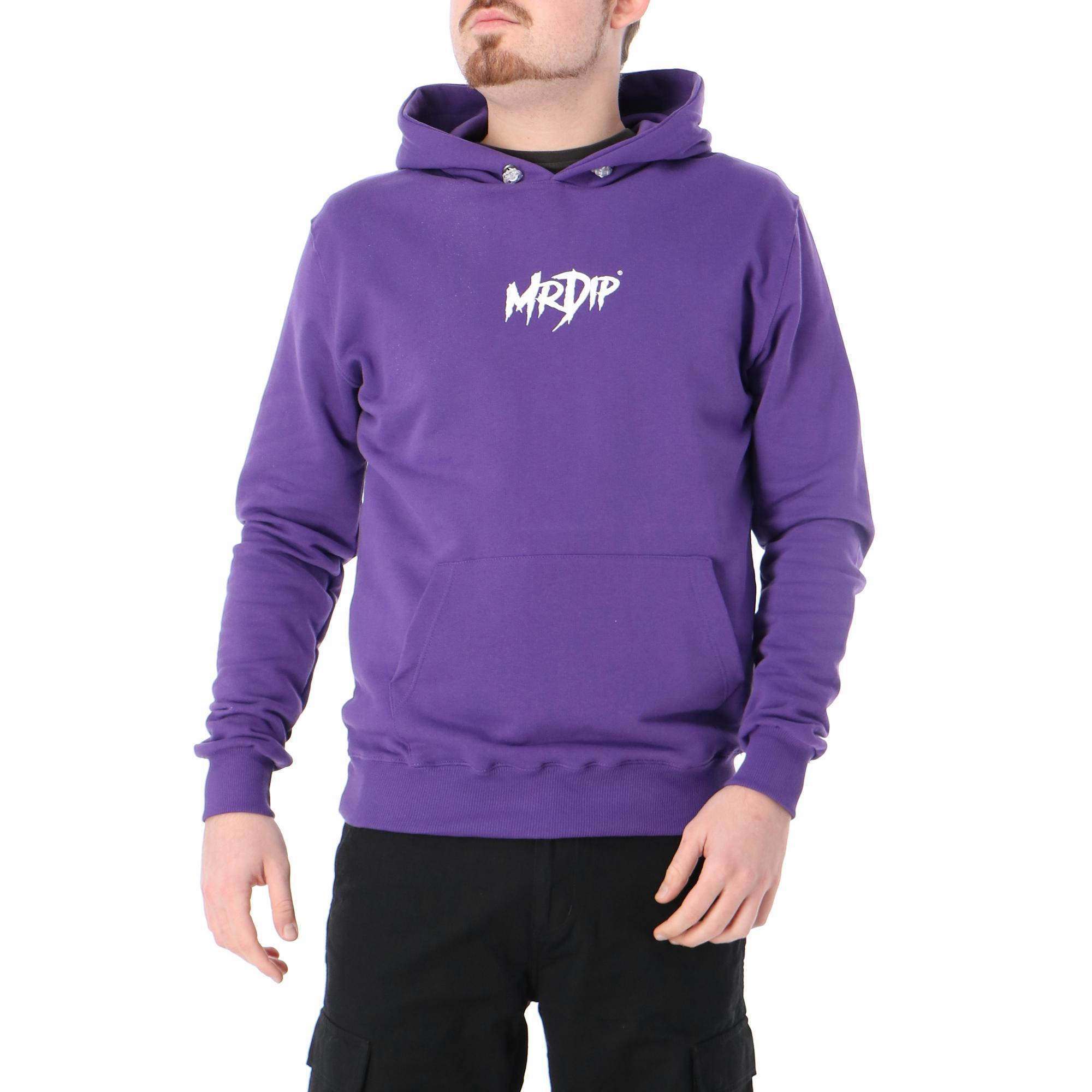 Mrdip Basic Logo Hoodie Purple white