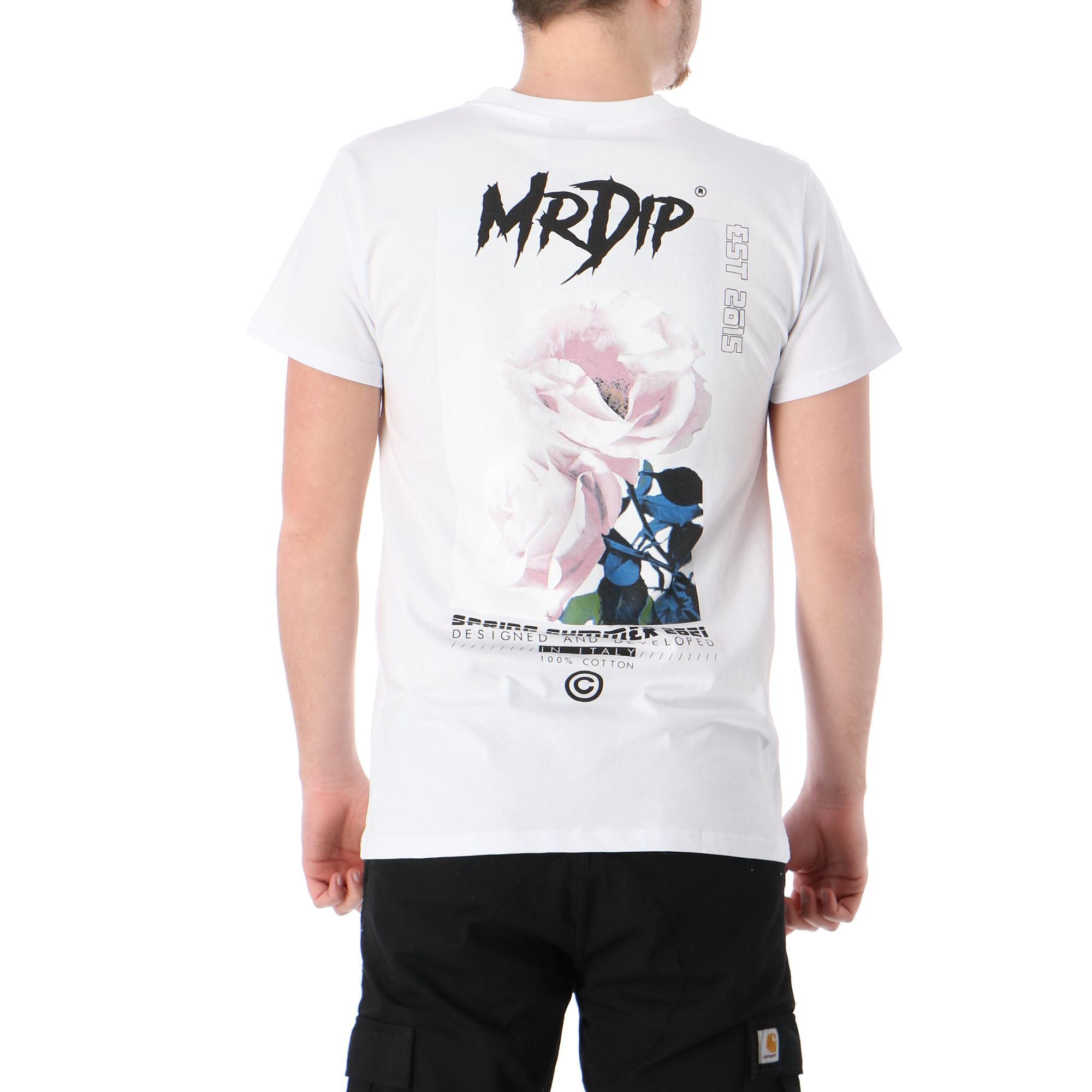 Mrdip Flowers Tee White black