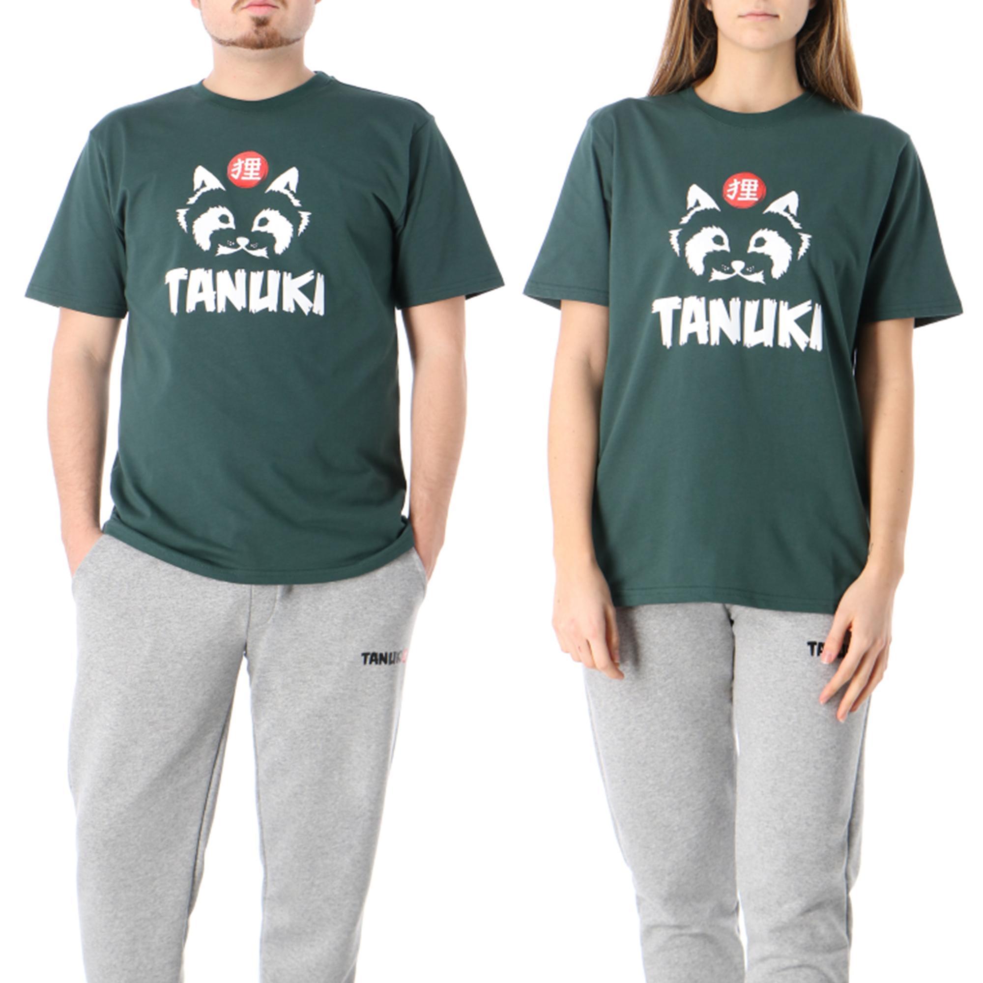 Tanuki Logo Tee Green wood