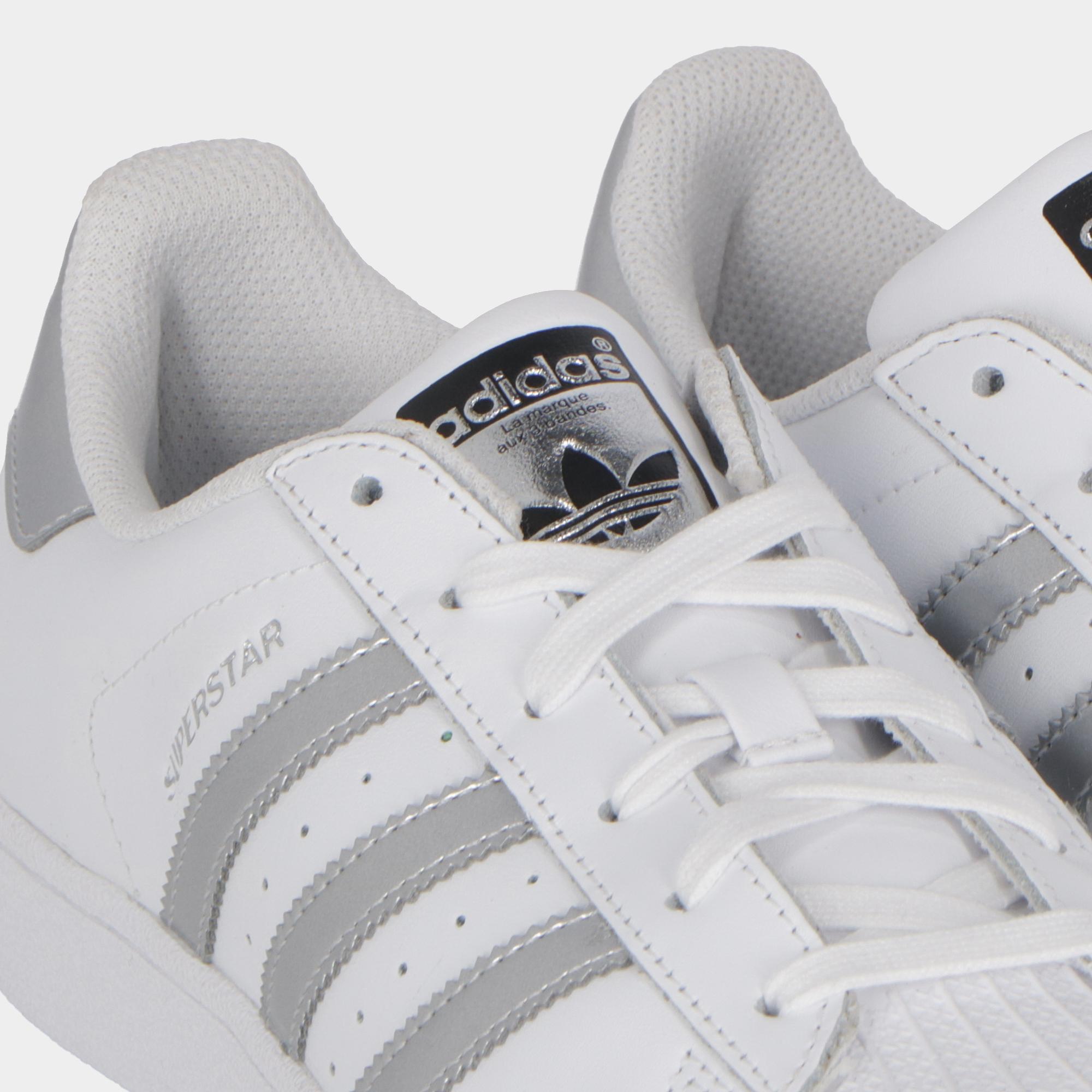 Adidas Superstar White silver black