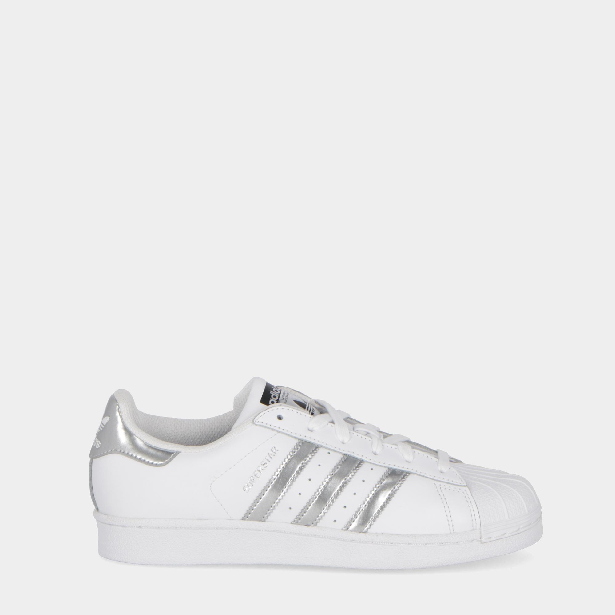 buy online eaee1 01289 Adidas Superstar White silver black