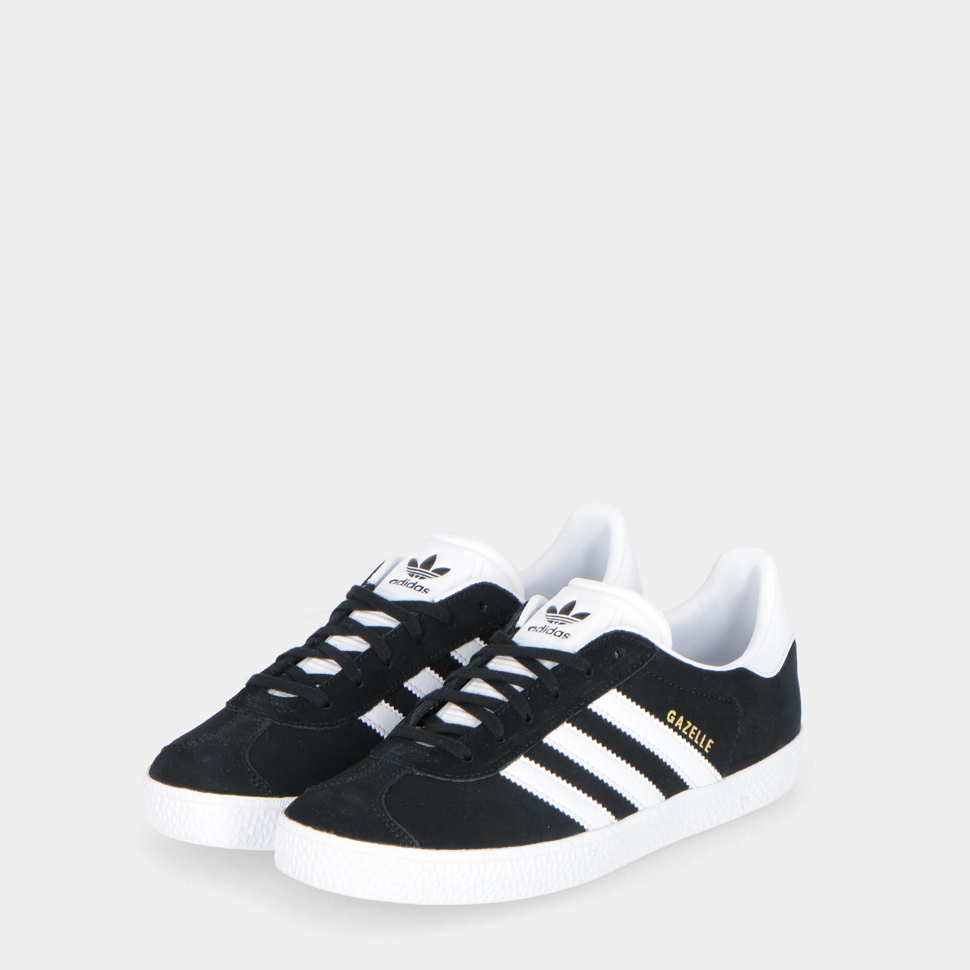 Adidas Gazelle - Kids Black white gold a2cb7a71f