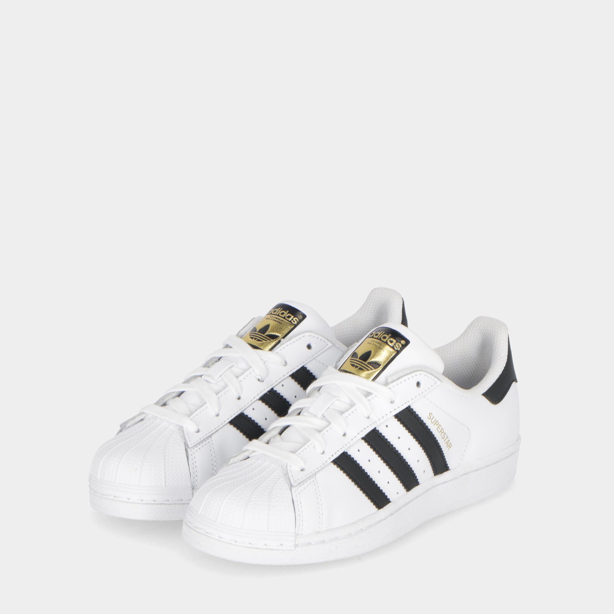 c5a548f0a5d36c Adidas Superstar - Kids White Black