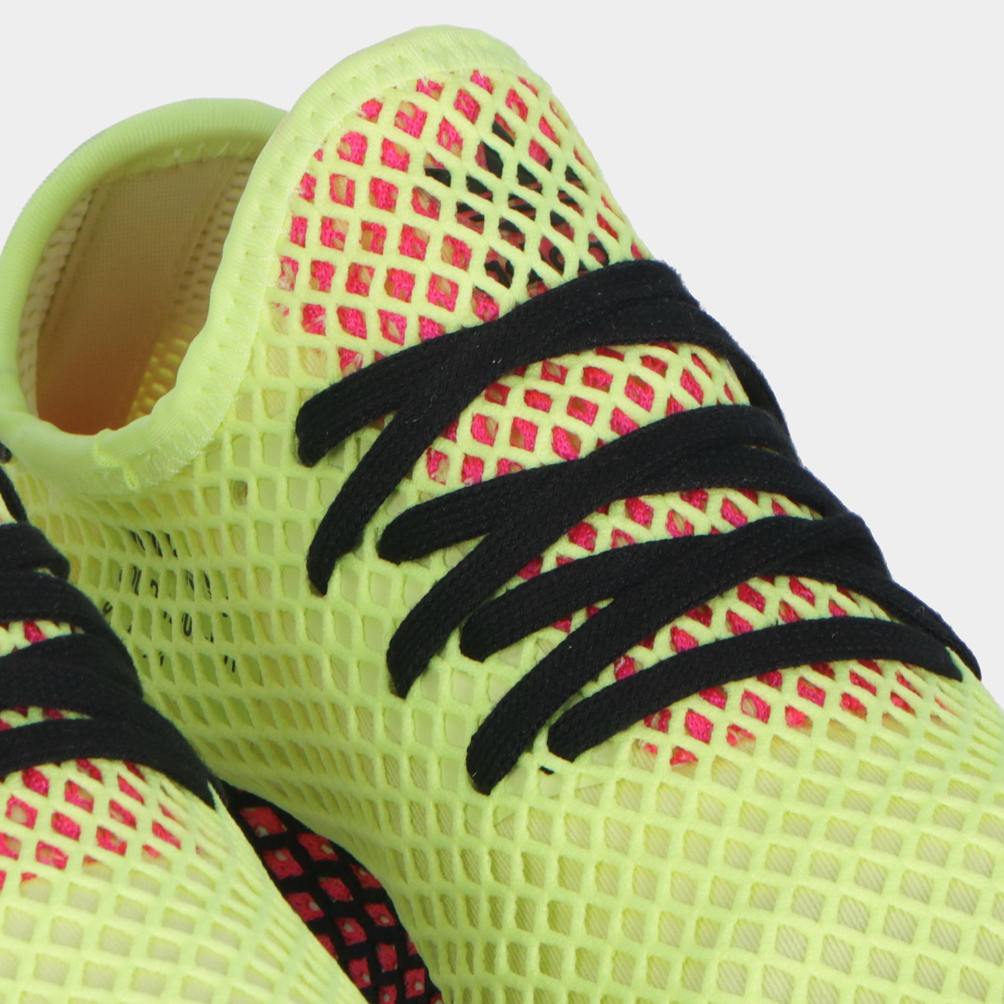 593c83f5fc694 Adidas Deerupt Runner Yellow Black Pink