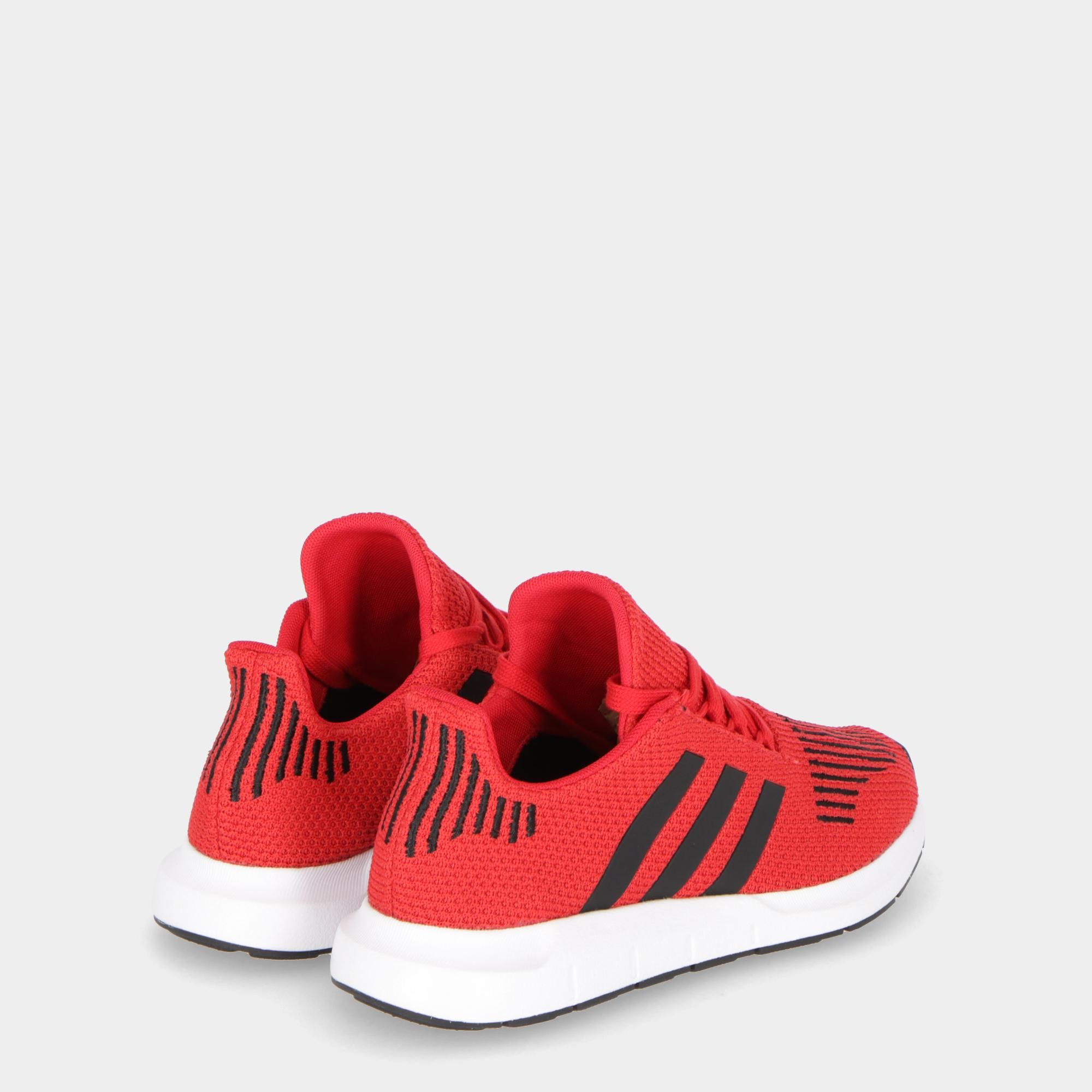 850d94ad5d0037 Adidas Swift Run - Kids Scarlet Black White