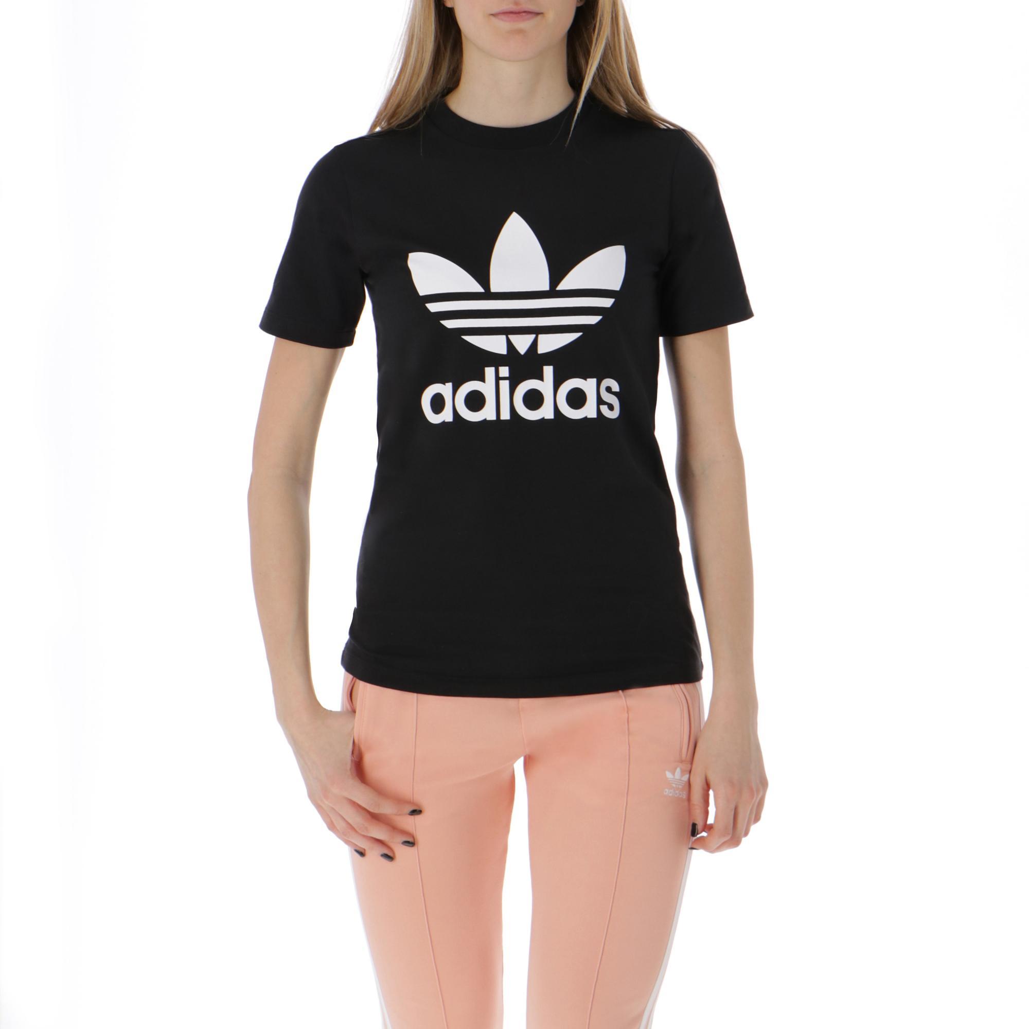 e2ccc7d331d Adidas Trefoil Tee Black White | Treesse