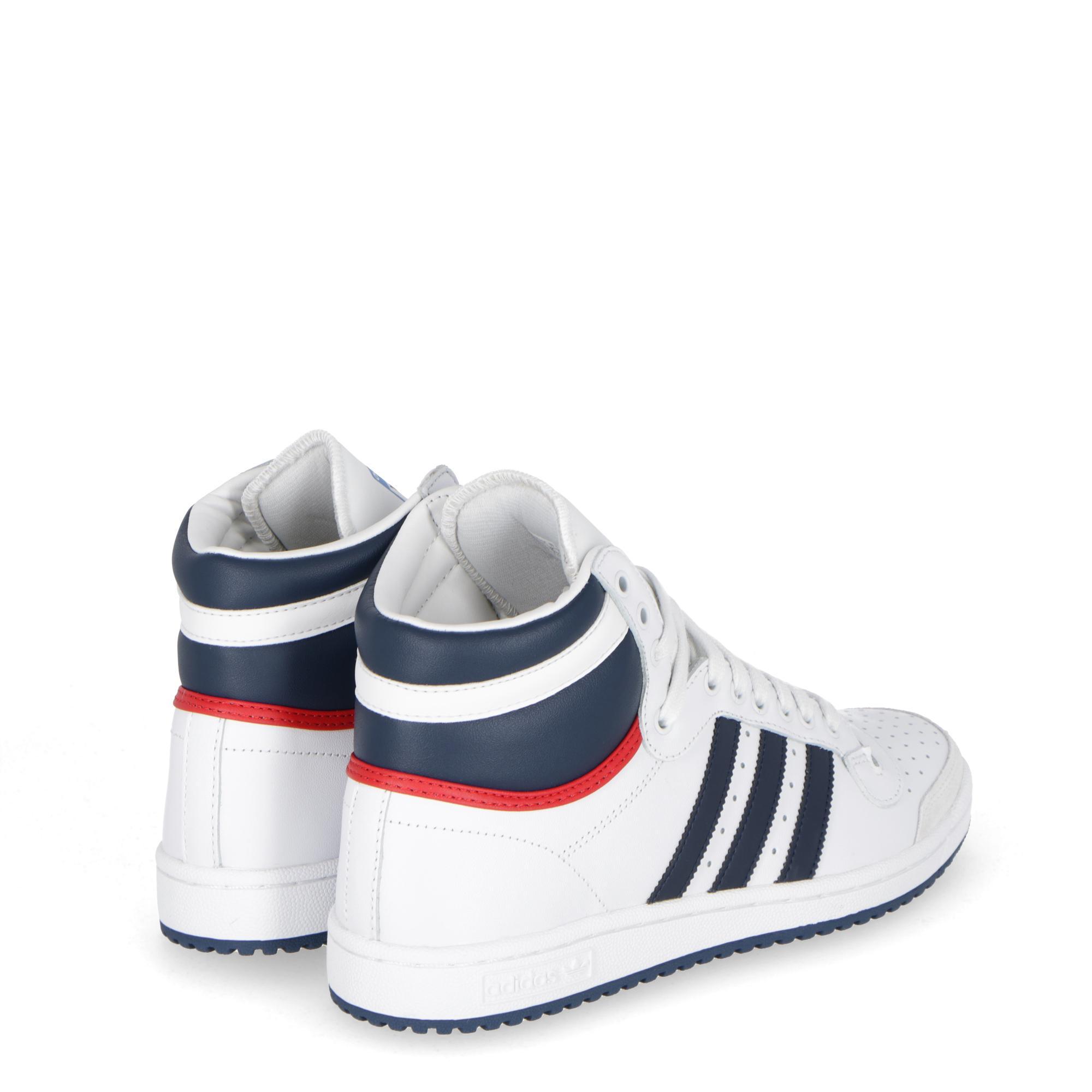 more photos b2d11 5e05a Adidas Top Ten Hi Neo white navy collegiate RED