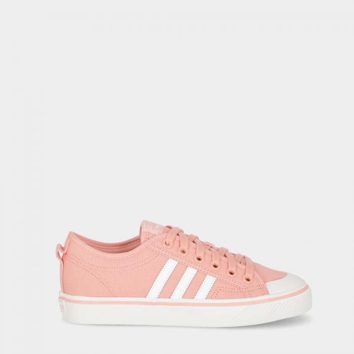 adidas basse pink white white