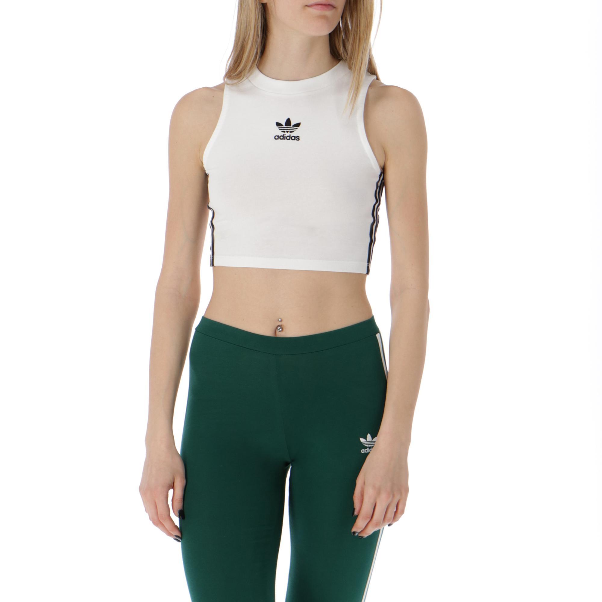 Adidas Crop Tank White black