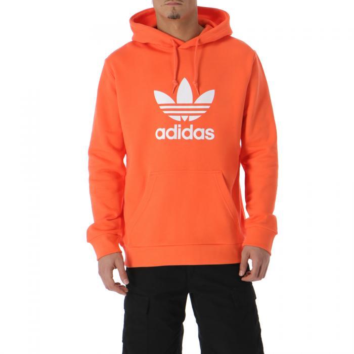 adidas felpa cappuccio true orange