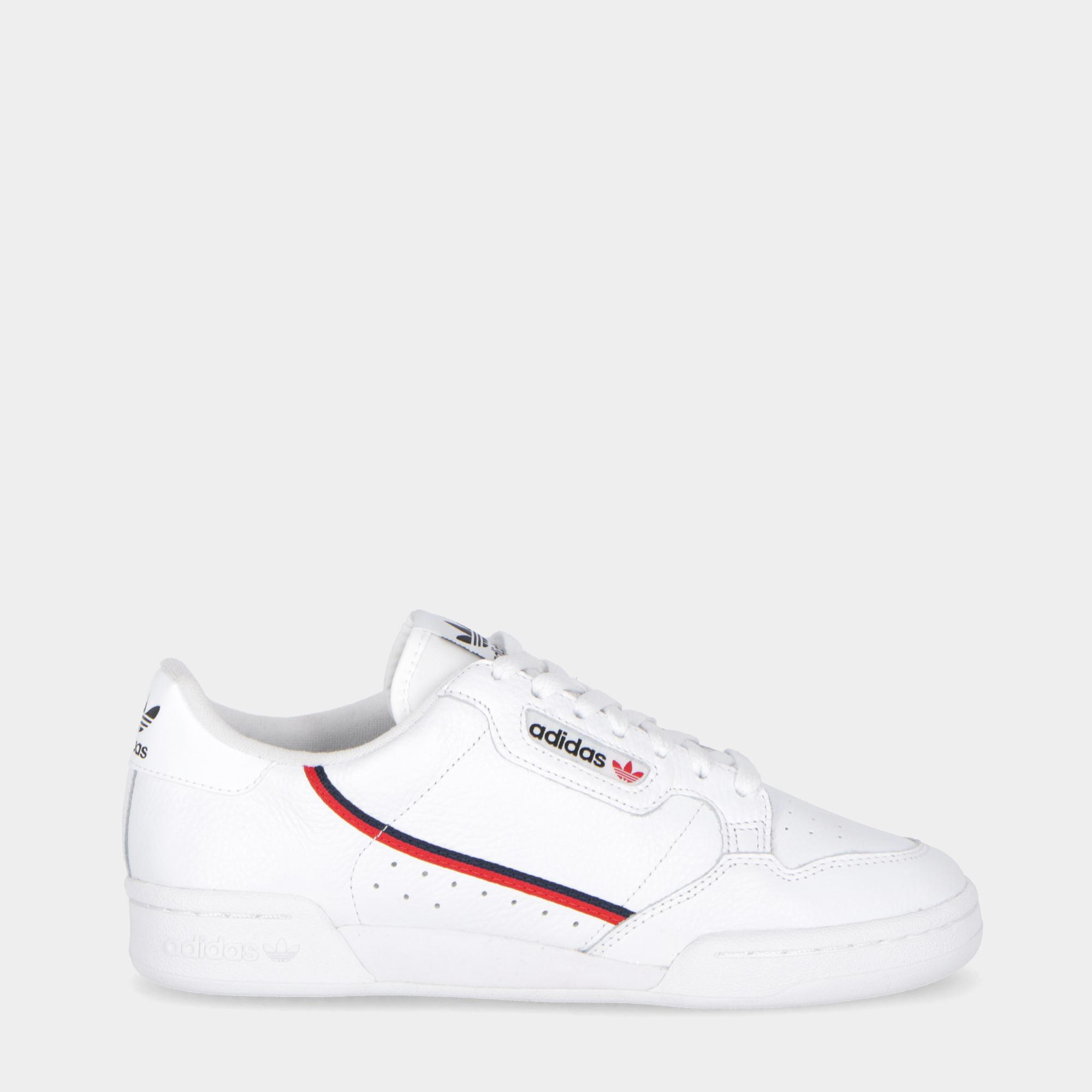 low priced b3513 2d9ab Adidas Continental 80 White scarlet navy